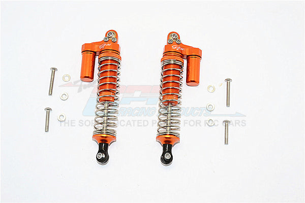 Axial SCX10 II (AX90046, AX90047) Aluminum Front/Rear L-Shape Shocks (92mm) - 1Pr Set Orange