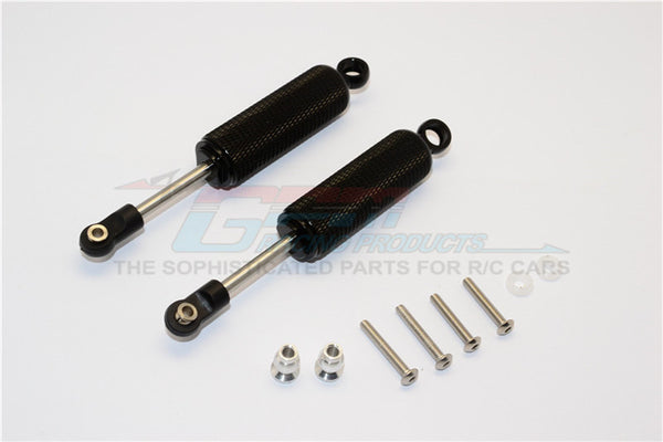 Axial SCX10 II (AX90046, AX90047) Aluminum Front/Rear Internal Shocks (95mm) With Engraving - 1Pr Set Black