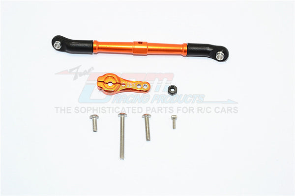Axial SCX10 II (AX90046, AX90047) Aluminum Adjustable Servo Rod & 25T Servo Horn - 2Pcs Set Orange