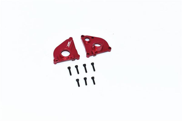 Axial 1/24 SCX24 4WD Deadbolt / Jeep Wrangler Aluminum Center Gearbox - 2Pc Set Red