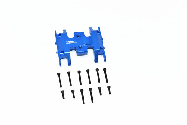 Axial 1/24 SCX24 4WD Deadbolt / Jeep Wrangler Aluminum Lower Gear Cover - 1Pc Set Blue