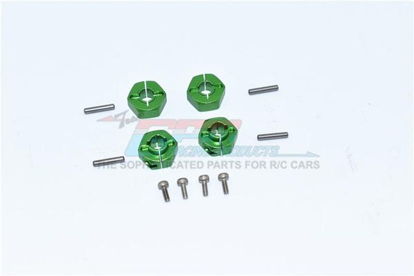 Axial SCX10 II UMG10 (AXI90075) Aluminum Front + Rear Hex Adapters - 4Pc Set Green