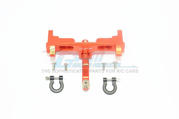 Axial SCX10 II UMG10 (AXI90075) Aluminium Rear Bumper Mount + D-Rings + Tow Hook - 1 Set Orange