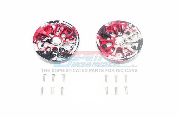 Axial SCX10 II UMG10 (AXI90075) Aluminum Front Or Rear 5 Lug Rim (Splatter Paint Version 2) - 1Pr Set
