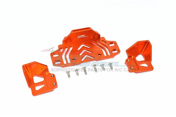 Axial SCX10 III Jeep JL Wrangler (AXI03007) Aluminium Rear Battery Holder -  9Pc Set Orange