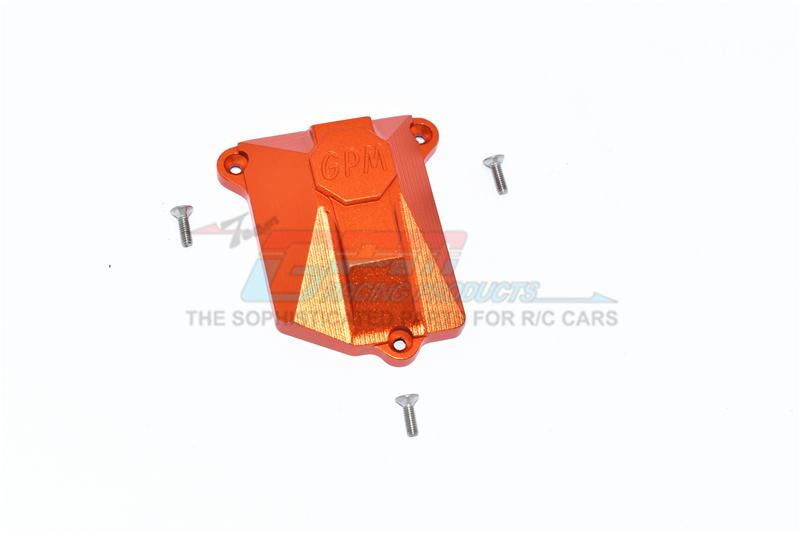 Axial SCX10 III Jeep JL Wrangler (AXI03007) Aluminium Receiver Cover - 1Pc Set Orange