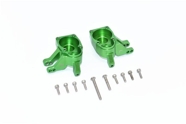 Axial SCX10 III Jeep Wrangler / Capra 1.9 Unlimited Trail Buggy Aluminum Inner Part of Front Knuckle Arms - 2Pc Set Green