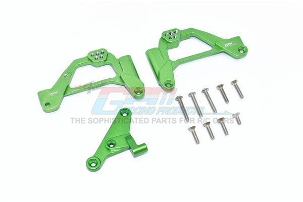 Axial SCX10 III Jeep JL Wrangler (AXI03007) Aluminum Front Shock Mount - 12Pc Set Green