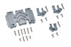 Axial 1:10 SCX10 III Wrangler AXI03007 / Gladiator AXI03006 Aluminum Center Gear Box Case And Mount - 23Pc Set Gray Silver