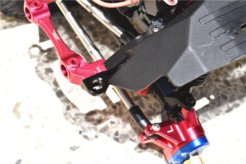 Red Axial SCX10 III Jeep JL Wrangler GPM Aluminum Front Body Post Mount