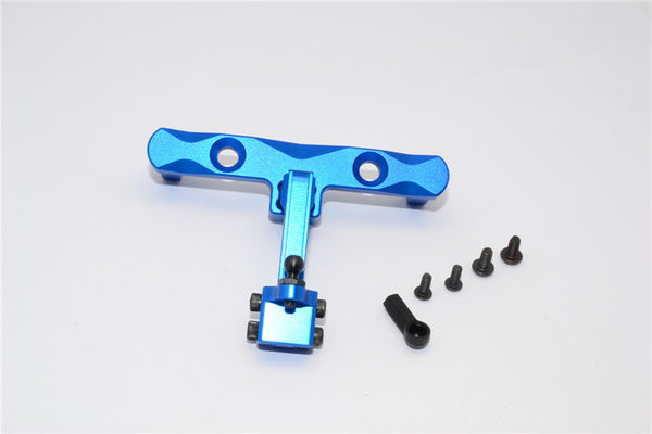 Axial SCX10 Aluminum Adjustable Tow Hitch - 1 Set Blue