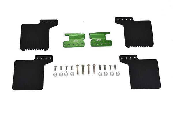R/C Scale Accessories : Front Mud Flap For Axial 1/10 SCX10 III Jeep Wrangler AXi03007 / Jeep Gladiator AXi03006 -26Pc Set Green