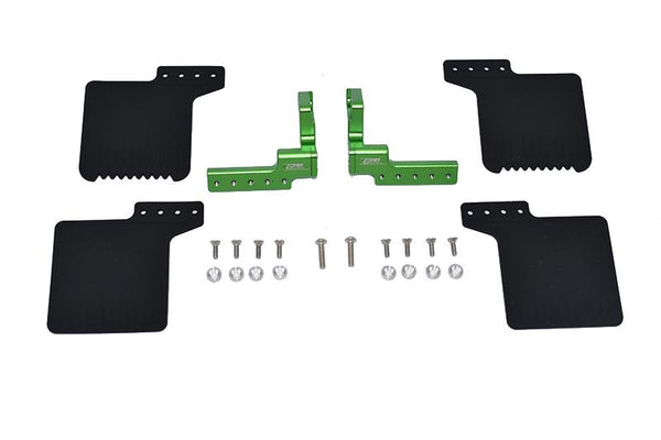 R/C Scale Accessories : Rear Mud Flap For Axial 1/10 SCX10 III Jeep Wrangler AXi03007 / Jeep Gladiator AXi03006 -24Pc Set Green