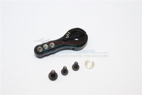 Aluminum Servo Horn For 24T Spline Output Shaft 3 Holes Design For Airtronics/Ko/Jr - 1Pc Black