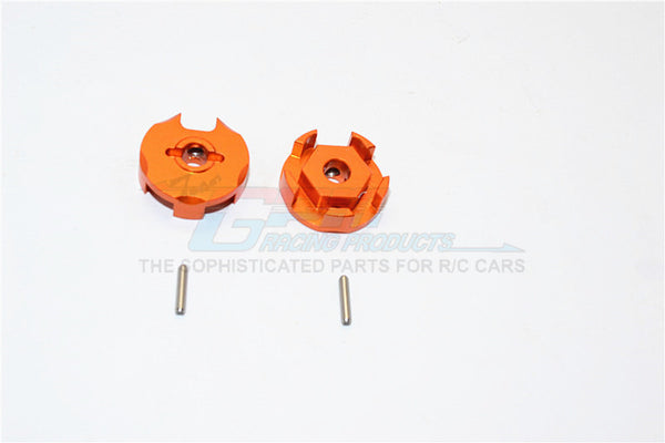 Traxxas Slash 4X4 Aluminum Wheel Hex Claw - 2Pcs Orange