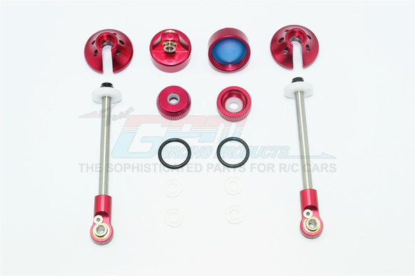 Aluminum Rebuild Kit For GPM Optional Rear Damper #SLA102R - 14Pc Set Red