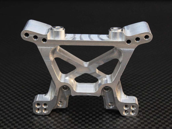 Traxxas Slash 4X4 / Stampede 4X4 VXL / Deegan 38 Fiesta ST Rally Aluminum Front Shock Tower - 1Pc Silver