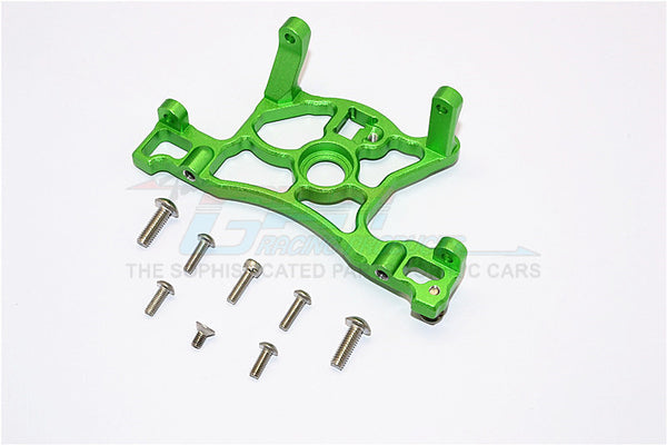 Traxxas Slash 4x4 LCG (68086-21) / Deegan 38 Fiesta (74054-6) Aluminum Spur Gear Cover Mount - 1Pc Set Green