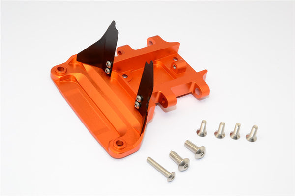 Traxxas Slash 4x4 LCG (68086-21) / Deegan 38 Fiesta (74054-6) Aluminum Rear Gear Box Protector - 1Pc Set Orange