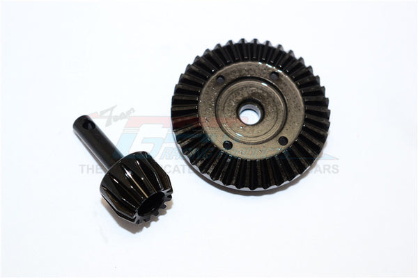 Axial SMT10 Grave Digger (AX90055) & MAX-D (AX90057) Hard Steel Gear Set For Differential Assembly - 2Pcs Black