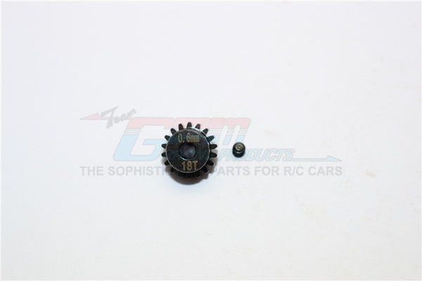 Steel#45 Motor Gear 18T - 1 Set Black