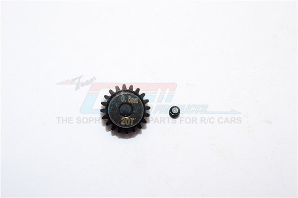 Steel#45 Motor Gear 20T - 1 Set Black