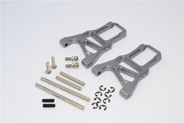 HPI Sprint 2 Aluminum Front Arm With Screws & Pins & E-Clips - 1Pr Set Gray Silver