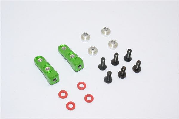 Aluminum Servo Mount (M3 Thread, Length 8.5mm) - 2Pcs Set Green