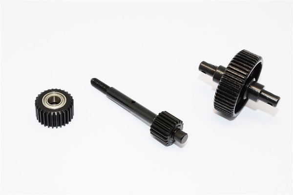 Axial SCX10 Steel #45 Center Drive Gears With Bearings (5X10X4Mm-2Pcs) - 3Pcs Set Black