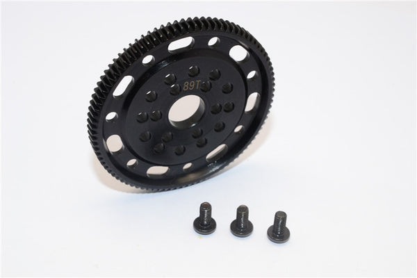Axial SCX10 & Wraith Steel#45 Spur Gear 48 Pitch 89T - 1Pc Set Black