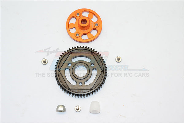 Axial SCX10 II (AX90046) Aluminum Spur Gear Adapter + Steel Gear 56T - 1 Set Orange