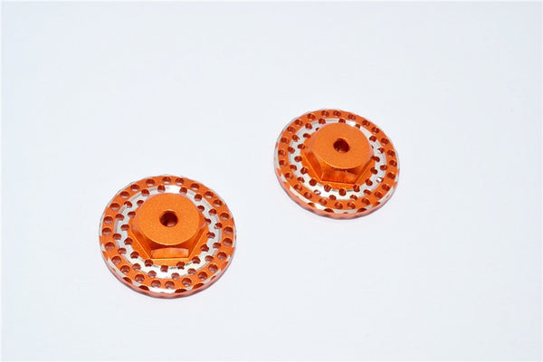 Traxxas LaTrax SST & LaTrax Teton Aluminum Brake Disk Hex Adaptors (12mmx6.5mm) - 2Pcs Orange