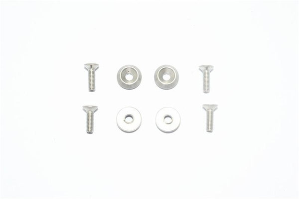 Traxxas LaTrax SST Stainless Steel Wheel Lock Washer + Screw - 8Pc Set Original Color