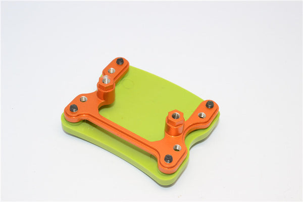 Gmade Sawback Aluminum+Plastic Front/Rear Skid Plate Mount - 1 Set Orange