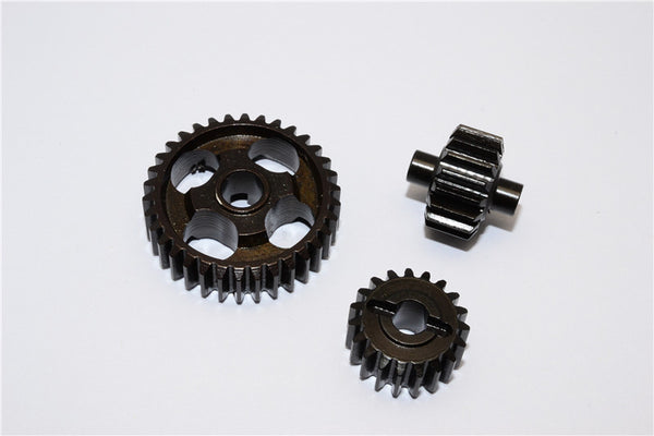 Axial Yeti XL Monster Buggy Steel Transmission Gears - 3Pcs Black