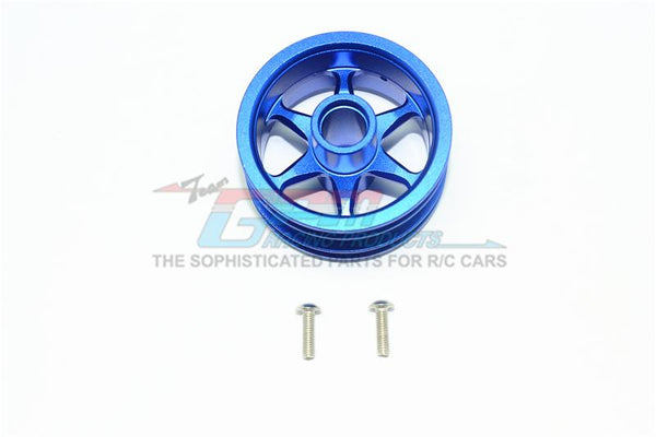 Tamiya T3-01 Dancing Rider Trike Aluminum Front Wheel (6 Poles Design) -1Pc Set Blue