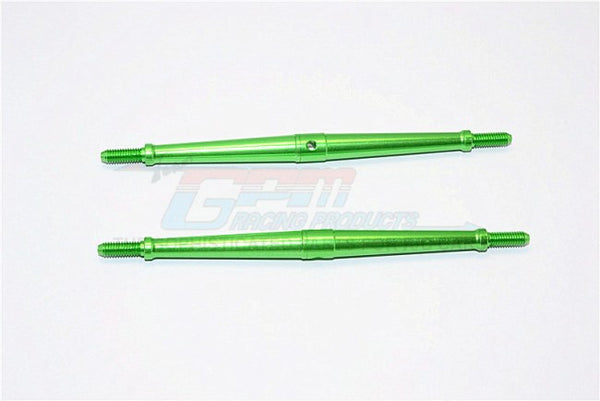 Aluminum 4mm Clockwise And Anticlockwise Turnbuckles (Total Length 115.5mm - Both Side Thread 12mm) - 1Pr Green