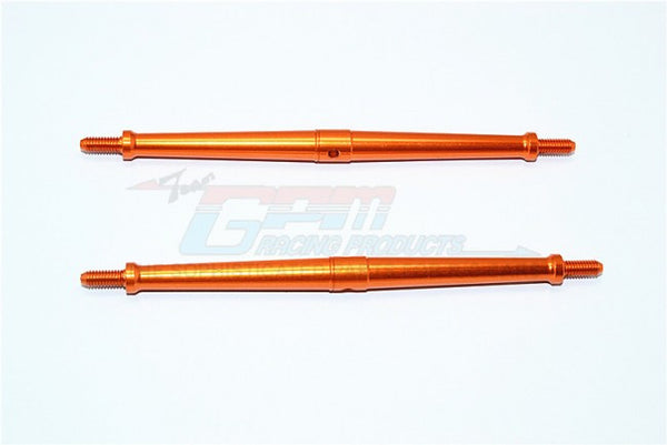 Aluminum 4mm Clockwise And Anticlockwise Turnbuckles (Total Length 120.5mm - Both Side Thread 10mm) - 1Pr Orange