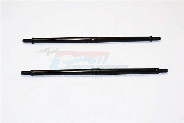 Aluminum 4mm Clockwise And Anticlockwise Turnbuckles (Total Length 147.5mm - Both Side Thread 10mm) - 1Pr Black