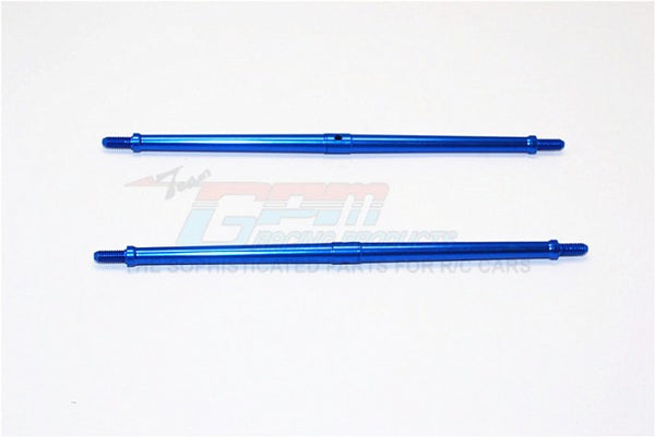 Aluminum 4mm Clockwise And Anticlockwise Turnbuckles (Total Length 147.5mm - Both Side Thread 10mm) - 1Pr Blue