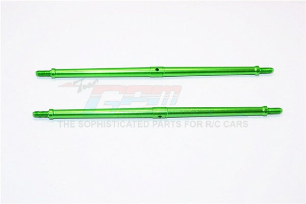 Aluminum 4mm Clockwise And Anticlockwise Turnbuckles (Total Length 147.5mm - Both Side Thread 10mm) - 1Pr Green