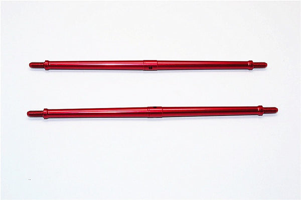 Aluminum 4mm Clockwise And Anticlockwise Turnbuckles (Total Length 147.5mm - Both Side Thread 10mm) - 1Pr Red