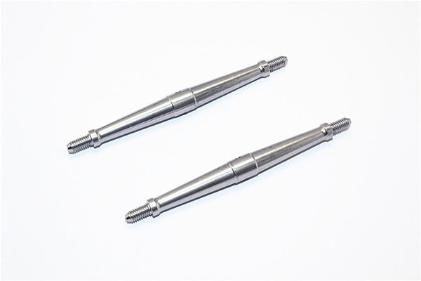 Aluminum 4mm Clockwise And Anticlockwise Turnbuckles (Total Length 85.5mm - Both Side Thread 8.5mm) - 1Pr Gray Silver