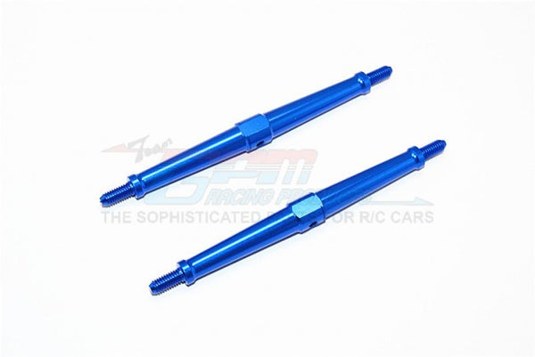Aluminum 4mm Clockwise And Anticlockwise Turnbuckles (Total Length 97.5mm - Both Side Thread 9.5mm) - 1Pr Blue