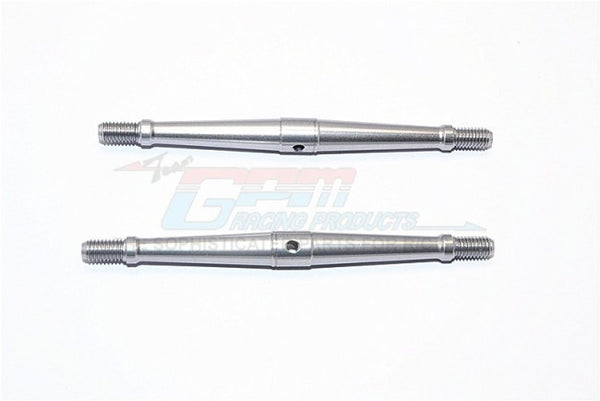 Aluminum 5mm Clockwise And Anticlockwise Turnbuckles (Total Length 90mm - Both Side Thread 9.5mm) - 1Pr Gray Silver