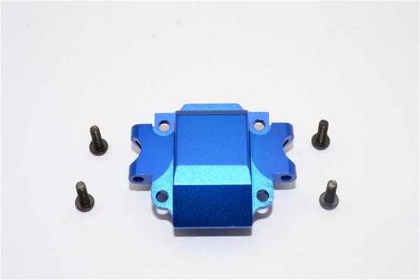 Tamiya TA01 / TA02 / M1025 HUMMER Aluminum Front Gear Box (Bottom) Part - 1Pc Set Blue