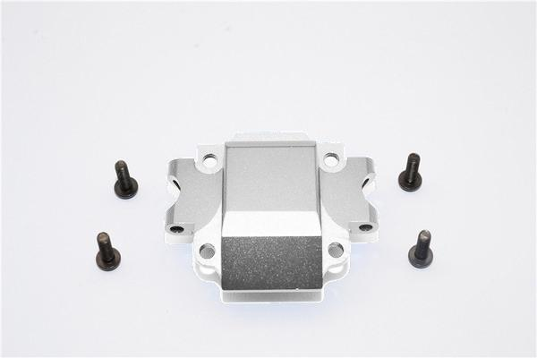 Tamiya TA01 / TA02 / M1025 HUMMER Aluminum Front Gear Box (Bottom) Part - 1Pc Set Silver