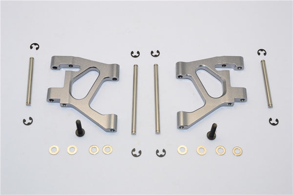 Tamiya TA02 Aluminum Rear Lower Arm Set - 1Pr Gray Silver
