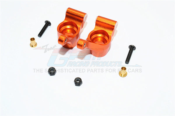 Tamiya TA02T Aluminum Rear Knuckle Arm - 1Pr Set Orange