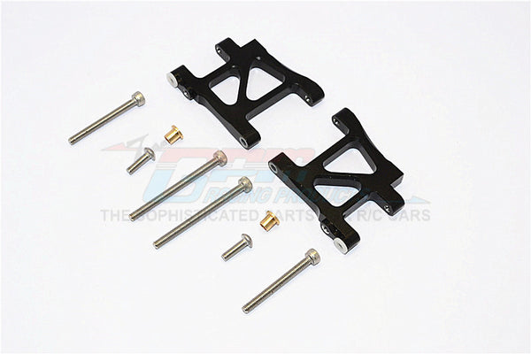 Tamiya TA02T Aluminum Rear Suspension Arm - 1Pr Set Black